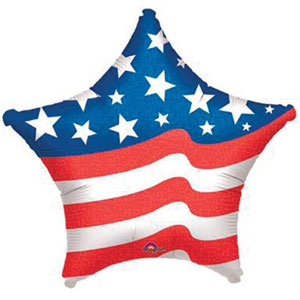 FOIL BALLOON - AMERICAN FLAG STARS & STRIPES