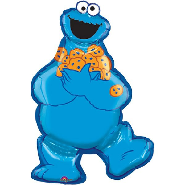 FOIL SUPER SHAPE BALLOON - COOKIE MONSTER