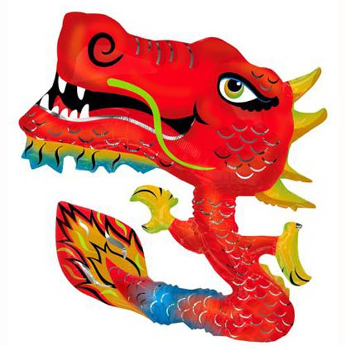 FOIL SUPER SHAPE BALLOON - ANIMATED CHINESE DRAGON