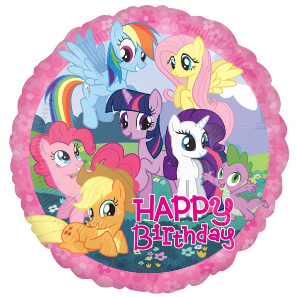 FOIL BALLOON - MY LITTLE PONY 'HAPPY BIRTHDAY'