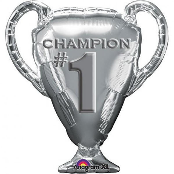 FOIL SUPER SHAPE BALLOON - CHAMPION TROPHY SILVER