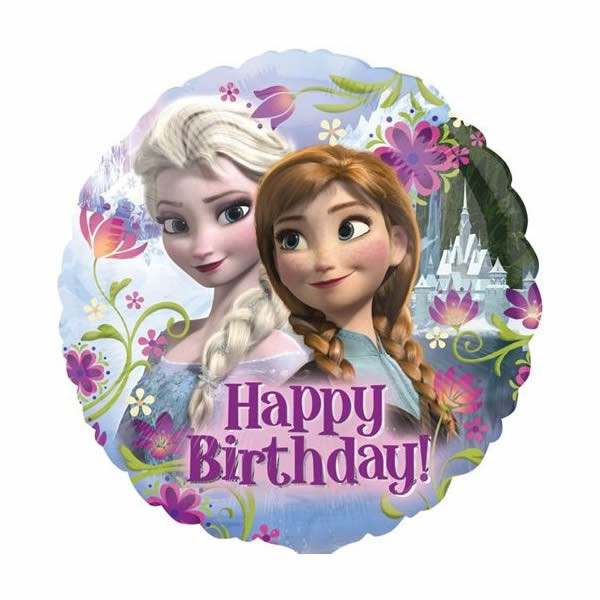 FOIL BALLOON - DISNEY FROZEN 'HAPPY BIRTHDAY' ANNA & ELSA