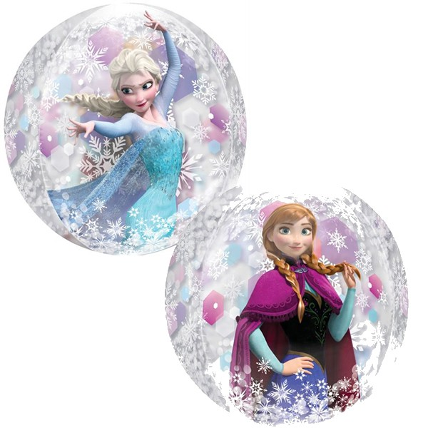 BUBBLE ORBZ BALLOON - DISNEY FROZEN ELSA & ANNA