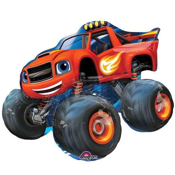 FOIL SUPER SHAPE BALLOON - BLAZE MONSTER TRUCK