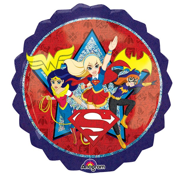 FOIL SUPER SHAPE BALLOON - SUPER DC COMIC HERO GIRLS