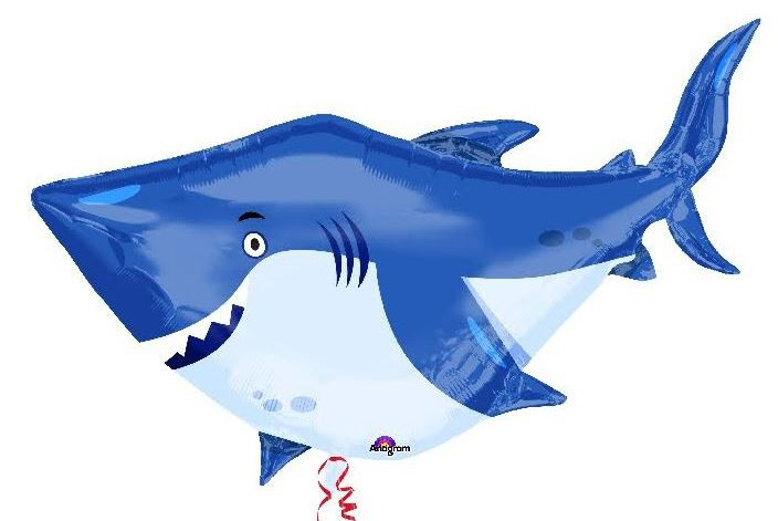 FOIL SUPER SHAPE BALLOON - SHARK BUDDY