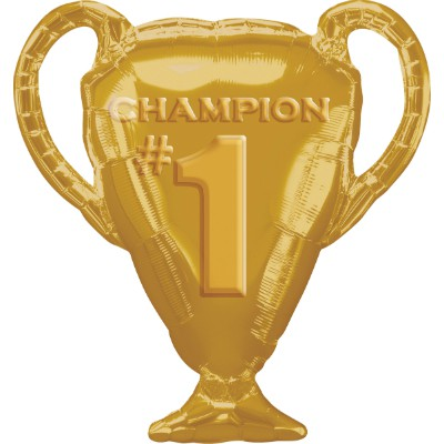 FOIL SUPER SHAPE BALLOON - CHAMPION TROPHY GOLD