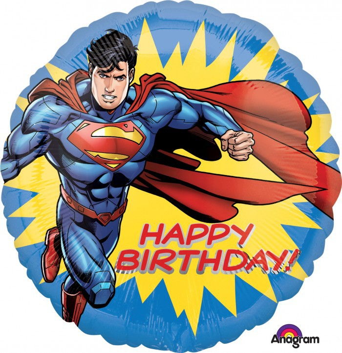 FOIL BALLOON - SUPERMAN 'HAPPY BIRTHDAY'
