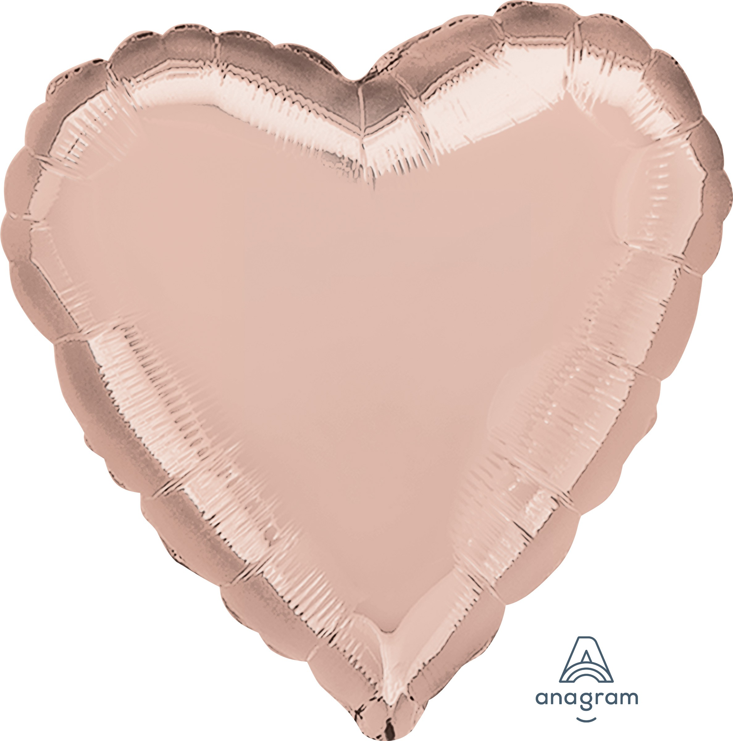 FOIL BALLOON HEART SHAPE - ROSE GOLD