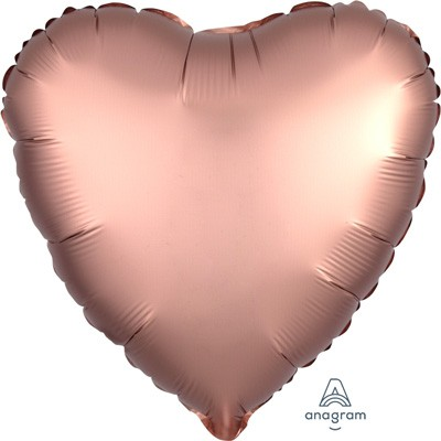 FOIL BALLOON HEART SHAPE - SATIN CHROME COPPER