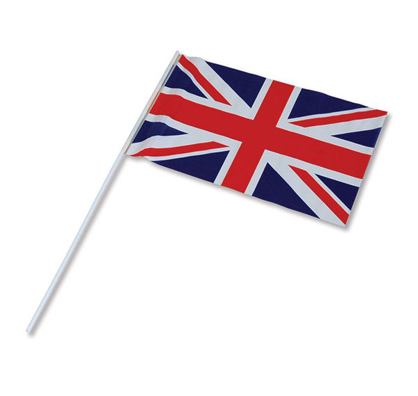 BRITISH UNION JACK HAND HELD WAVER FLAG