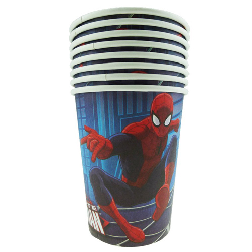 SPIDERMAN ULTIMATE CUPS - PACK OF 8