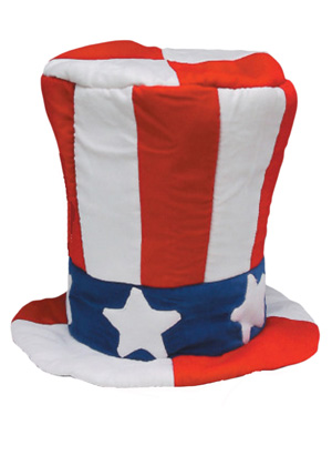 AMERICAN UNCLE SAM PLUSH HAT