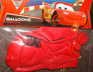 CARS 2 - PARTY BALLOONS PACK OF 6