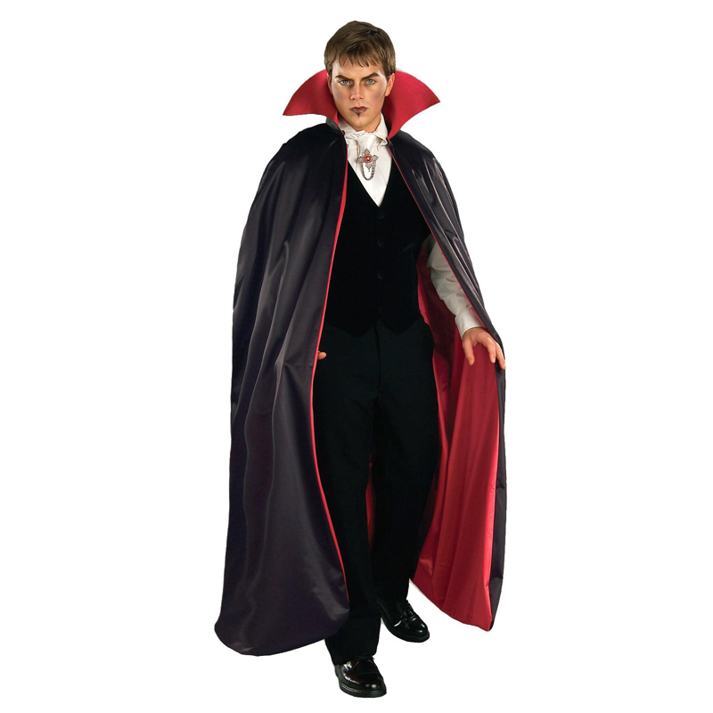 ADULT SATIN CAPE RED & BLACK