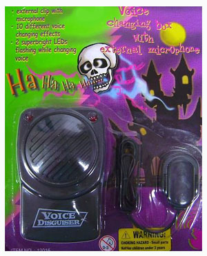 HALLOWEEN VOICE CHANGING MICROPHONE
