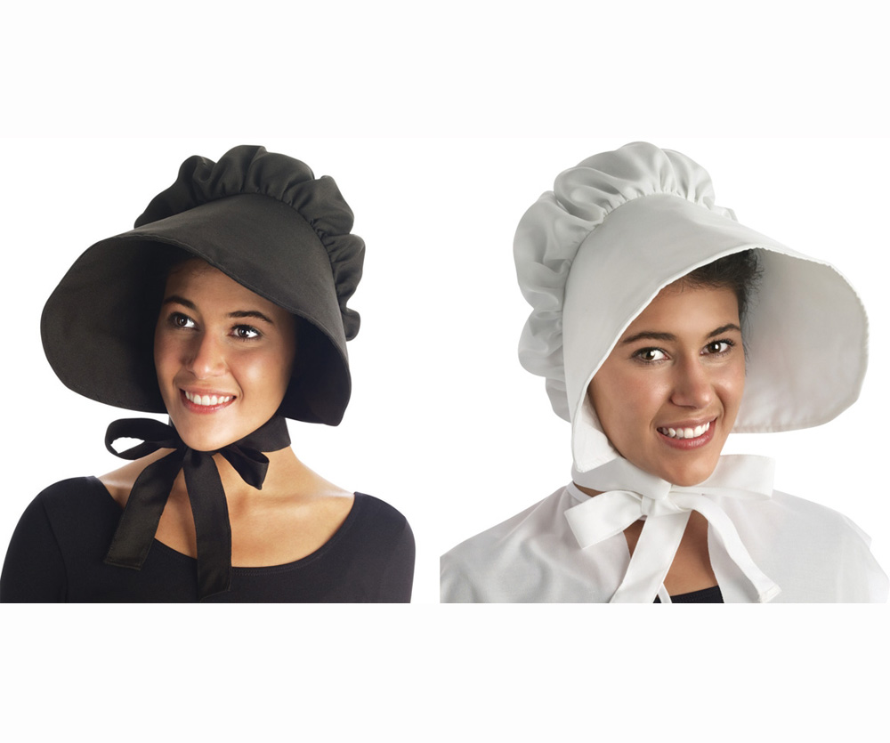 PILGRIM BONNETS - BLACK OR WHITE