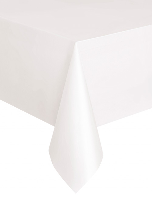 DISPOSABLE TABLECOVER - RECTANGULAR WHITE