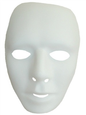 MASK - FULL FACE WHITE