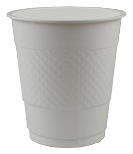 DISPOSABLE CUPS TWO TONE FROSTY WHITE - PACK OF 20