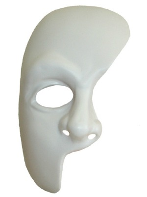 MASK - PHANTOM OF THE OPERA - WHITE