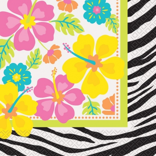 WILD LUAU NAPKINS - PACK OF 16