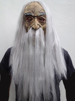MASK - WIZARD FULL FACE MASK AND WIG SET