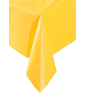 DISPOSABLE TABLECOVER - RECTANGULAR YELLOW