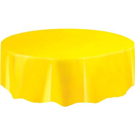 DISPOSABLE TABLECOVER - CIRCULAR YELLOW