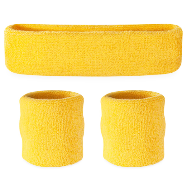 AUSSIE NEON YELLOW TENNIS SWEATBAND SET