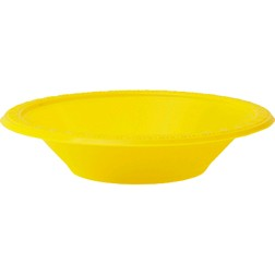 DISPOSABLE DESSERT OR SNACK BOWL YELLOW - PACK OF 25