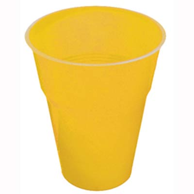 DISPOSABLE CUPS - YELLOW PACK 25