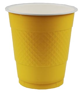 DISPOSABLE CUPS TWO TONE YELLOW - PACK OF 20