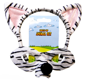 ZEBRA HEADBAND AND MASK SET
