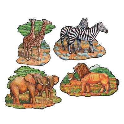 JUNGLE/ ZOO ANIMAL CUTOUTS