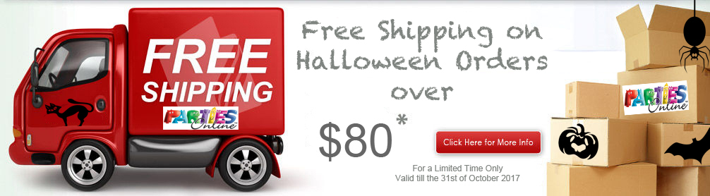 Free Shipping Halloween orders over $80